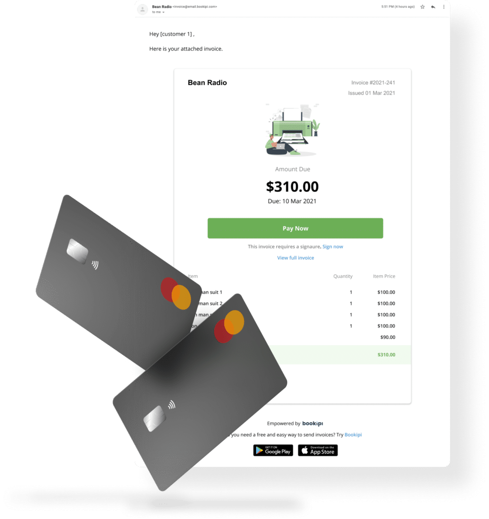 invoice payments by credit card
